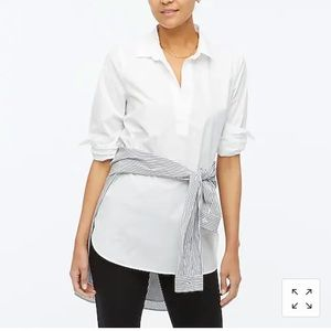 NWT J Crew factory High-low popover tunic top